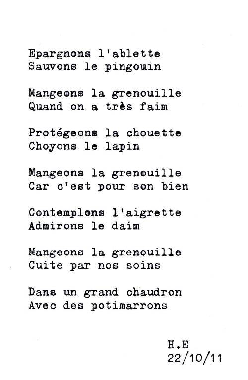 poemegrenouille