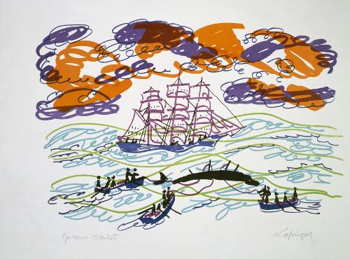Lapicque Charles La Chasse à la baleine